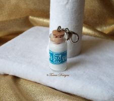 Lon Lon Ranch Milk Bottle Charm Hand painted ZELDA by TorresDesigns