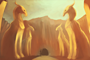 Temple entrance by TheSnowDragon