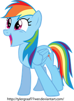 My First Pony Vector!! Rainbow Dash!! by KartDasher