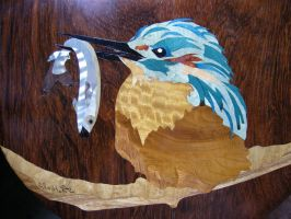 Marquetry Banjo, detail by decojo