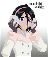 Kuchiki Rukia Winter by HinataSenpai