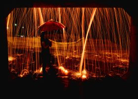 Caught in a Fire Storm by SonjaPhotography