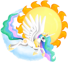 Princess Celestia by PlatinumPegasister