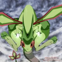 Flygon, Use Dragon Claw by Ichigochichi