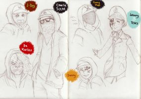 Hollywood Undead Crew by Haruhi2034