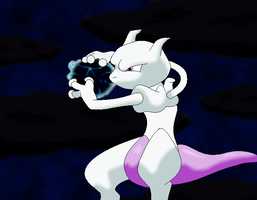150.Mewtwo by SkyBlueArts