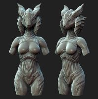Goddess 3D Sketch 1 by Arta