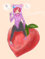 Strawberry by crumbledcupcake