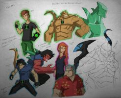 Ben10: Alien Breakthrough {fanart skeches} by COLOR-REAPER