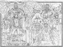 Finished Sketch book cover by c-crain