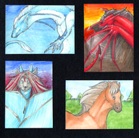 Aceo trades by goosechimera