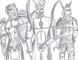Three Friends, Three Duelists by AceOfKeys72