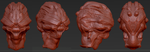 Alien Head Face Thing [WIP] by TrueNights