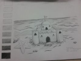 Sand Castle by AngelValkyrie23