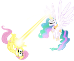 Trollestia Vs FlutterShy? by SavedByGODsGrace777