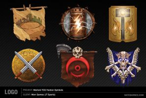 Faction Symbols - Warlord CCG by natebarnes