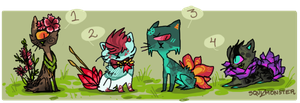 Buttflower cyclop cats adopt. 2 by Simonetry
