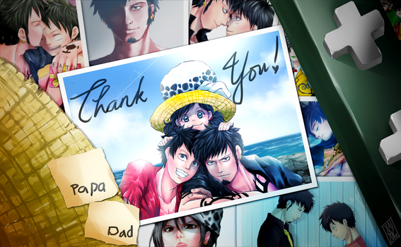 Thank You - LawLu Family AU by xairylle
