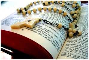 bible and rosary II. by papertheory