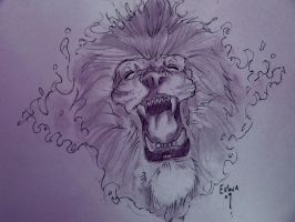 Lion tatt by lancesart