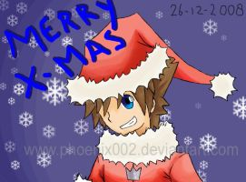 "Sora says: ""Merry X-MAS"" by puricoXD"