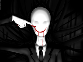 Slenderman_From your blood I'll draw my smile by Chivi-chivik