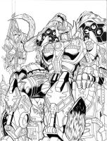 Nemesis Prime inks by Inker-guy