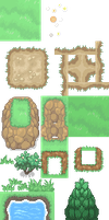 Pokemon XY tileset version 1 by EVoLiNa