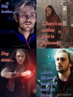 The Maximoff Twins-Hey Brother by ImmAHobbit
