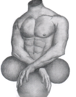 Title? A man's body with balls by Anetteee