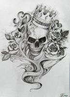 tattoo - skull by aqata16