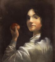 Boy with apple by Glasmond