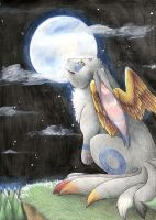 Moon watching by Siplick