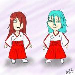 CE: Chibi Kohaku and Hyou - Back to School by Tygerlander