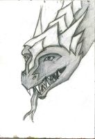 evil gleam dragon by wolfds