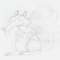 Scrat Sketch by PuccaFanGirl