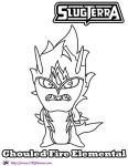 Fire Elemental Ghouled coloring page by SKGaleana by SKGaleana