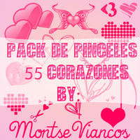 Pack de 55 heart's brushes to photoshop by Montsecyrus