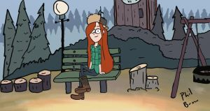 Wendy Corduroy from Gravity Falls by PhilBrow