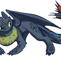 Holiday Toothless by NillaKiwi