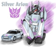 Silver Arion_D-con_Supra car_ by BloodyChaser