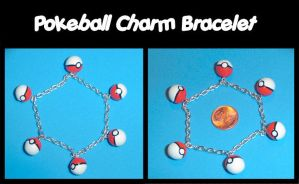 Pokeball Charm Bracelet Final by YellerCrakka