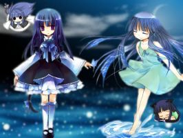 Rika and Bernkastel Wallpaper by Miracle-Witch-Bern
