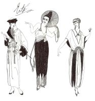 Erte fashion designs by janey-jane