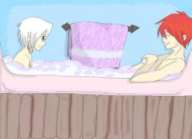 Laven bath time by harmony-of-mar