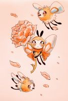 baby bees by owlapin