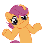 Shrugpony Scootaloo by MoongazePonies