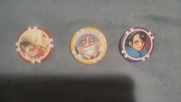 One Piece Film: Gold Poker Chips by XfangheartX