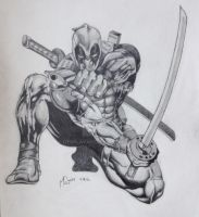 Deadpool Drawing by GtrPlaya82