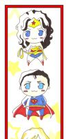 Wonderwoman Superman SuperGirl by AgnesGarbowska